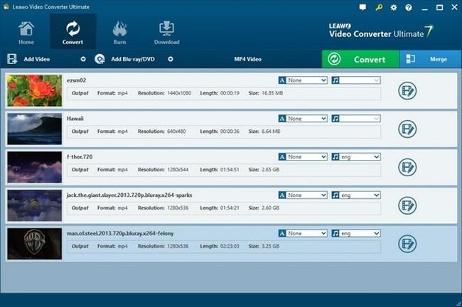 Leawo video converter ultimate interface