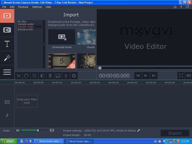 movavi screen capture video editor