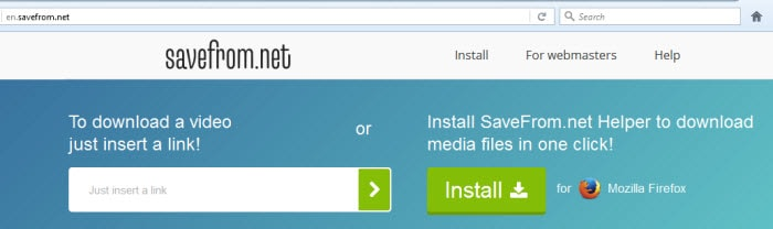 download video with savefrom.net