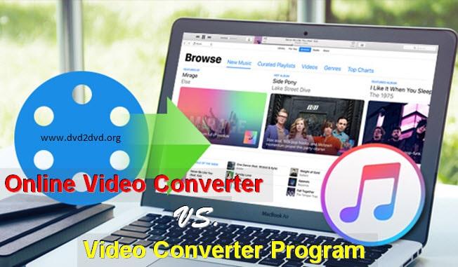 Online Video Converter Vs Video Converter Program