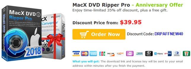 MacX DVD Ripper Pro discount code
