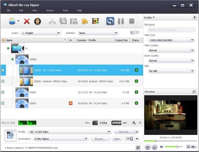 Xilisoft-Blu-ray-ripper-screenshot