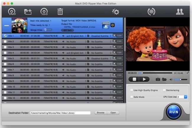 MacX dvd ripper free edition