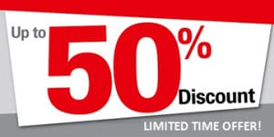 Up to 50% discount