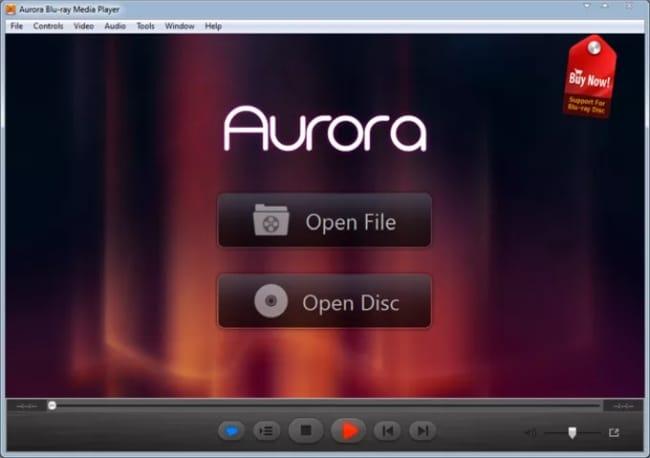 Aurora Blu ray Media Player screen