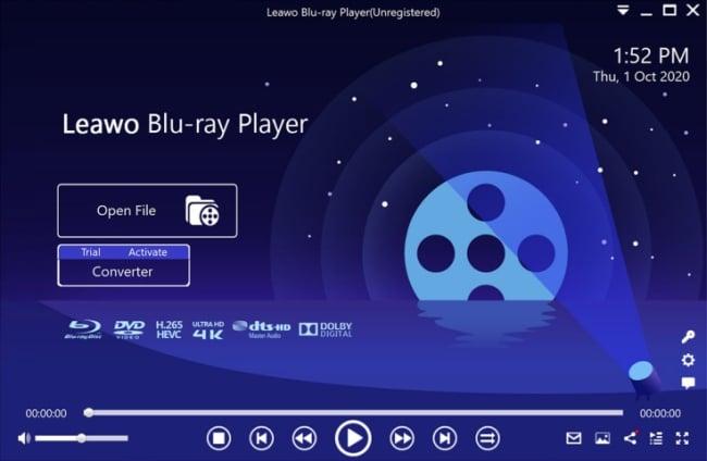 Leawo Blu ray Player screen