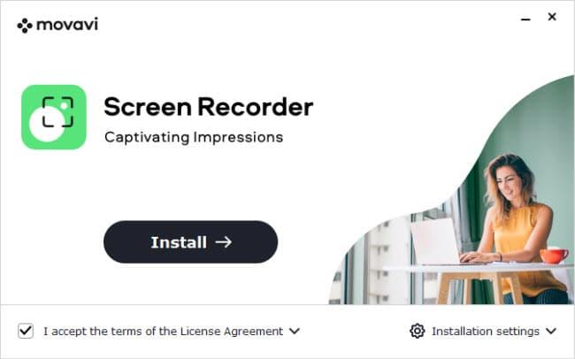 Install Movavi Screen Recoder