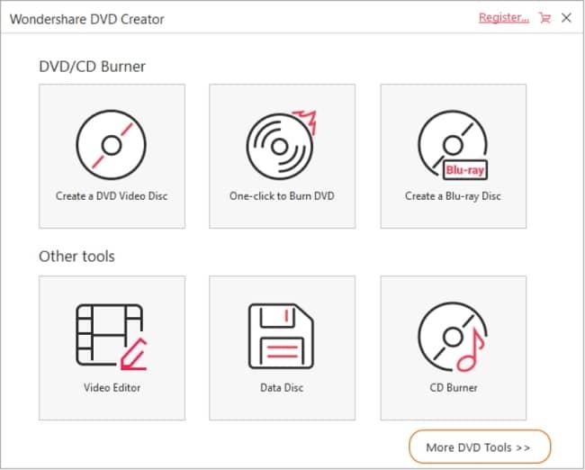 Copy DVD Using Wondershare DVD Creator 1