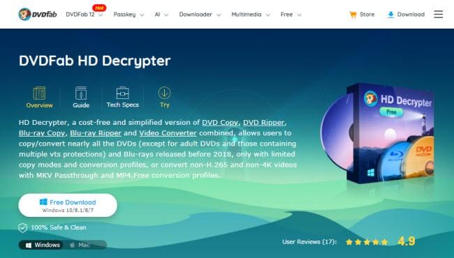 DVDFab HD Decrypter site