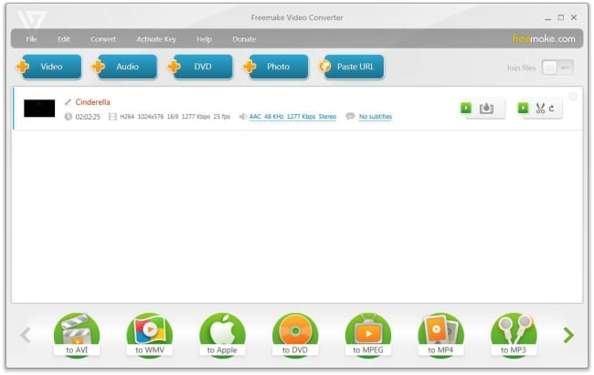 Convert MOV to MP4 by Using FreeMakeVideo Converter