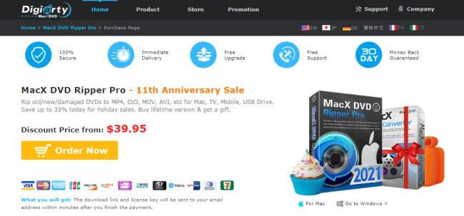MacX DVD Ripper Pro screen