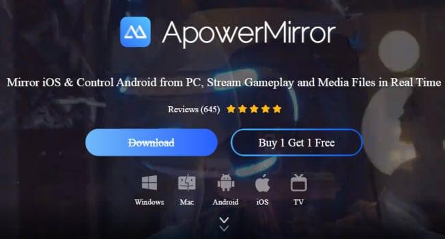ApowerMirror screen