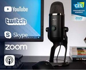 • Blue Yeti X Professional Condenser USB Microphone